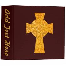 Celtic Cross 3 Gold Binder