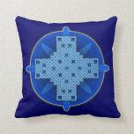 Celtic Cross 4 Blue Throw Pillow