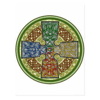 Celtic Cross 4-Color Postcard