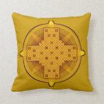 Celtic Cross 4 Gold Throw Pillow