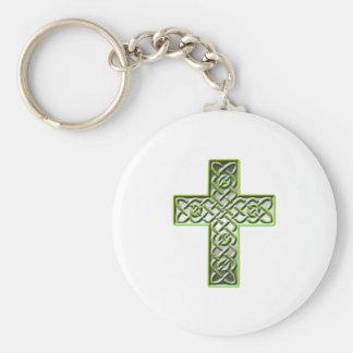 Celtic Cross 4 Keychain