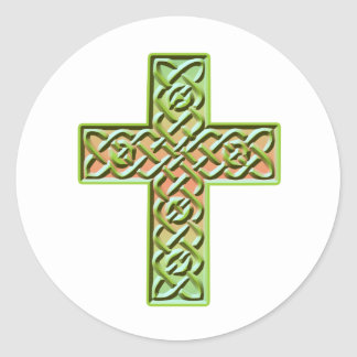 Celtic Cross 5 Classic Round Sticker