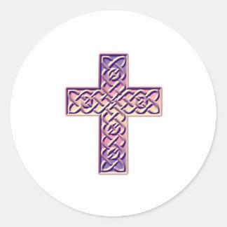 Celtic Cross 6 Classic Round Sticker