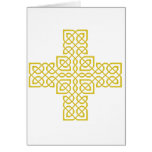Celtic Cross 6 Gold Greeting Card