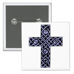 Celtic Cross 7 Purple Pinback Buttons