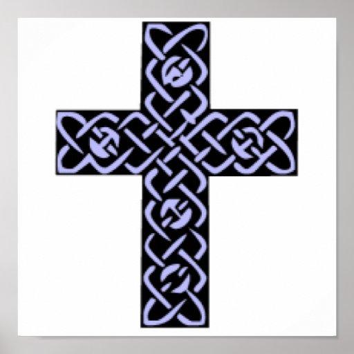 Celtic Cross 7 Purple Poster