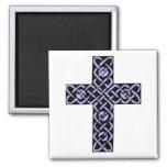 Celtic Cross 7 Purple Refrigerator Magnet