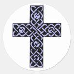 Celtic Cross 7 Purple Sticker