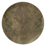 Celtic Cross and Celtic Knots Dinner Plate