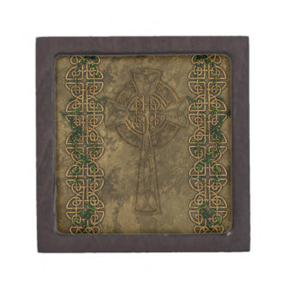 Celtic Cross and Celtic Knots Jewelry Box
