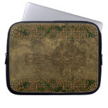 Celtic Cross and Celtic Knots Laptop Sleeve