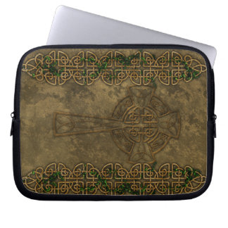 Celtic Cross and Celtic Knots Laptop Sleeve