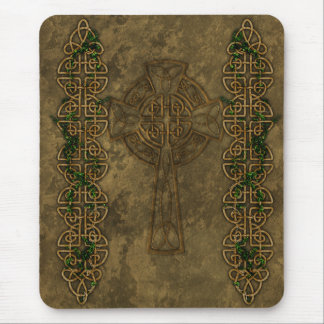 Celtic Cross and Celtic Knots Mouse Pad