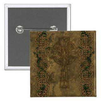Celtic Cross and Celtic Knots Pinback Button