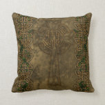 Celtic Cross and Celtic Knots Throw Pillow