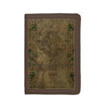 Celtic Cross and Celtic Knots Tri-fold Wallet