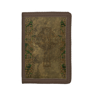 Celtic Cross and Celtic Knots Trifold Wallet
