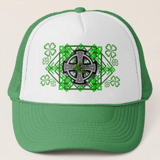Celtic Cross and Clover Trucker Hat