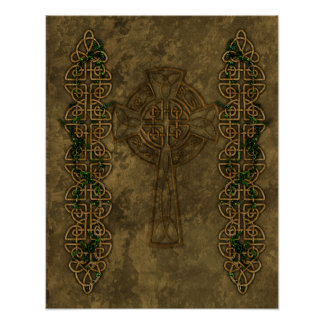 Celtic Cross and Cross Knots Poster