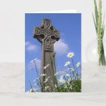 Celtic Cross and Daisies Easter Holiday Card