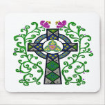 Celtic Cross and Vines Mousepads