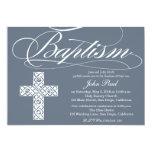Celtic Cross Baptism Invitation for Boys