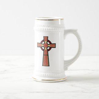 Celtic Cross Beer Stein Coffee Mugs