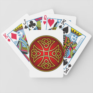 Celtic cross bicycle playing cards
