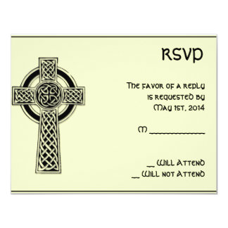 Celtic Cross Black and Mythic Ivory Card
