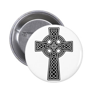 Celtic Cross black and white 2 Inch Round Button