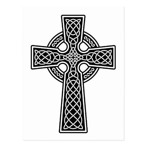 Celtic Cross black and white Postcard