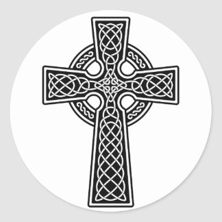 Celtic Cross black and white Sticker