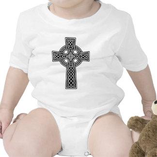 Celtic Cross black and white T Shirt