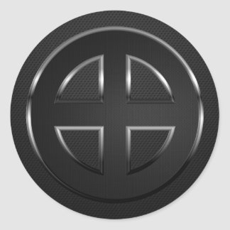 Celtic Cross (black metal) Classic Round Sticker