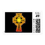 Celtic Cross Black Postage Stamps