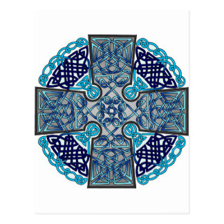 Celtic Cross Blue Postcard