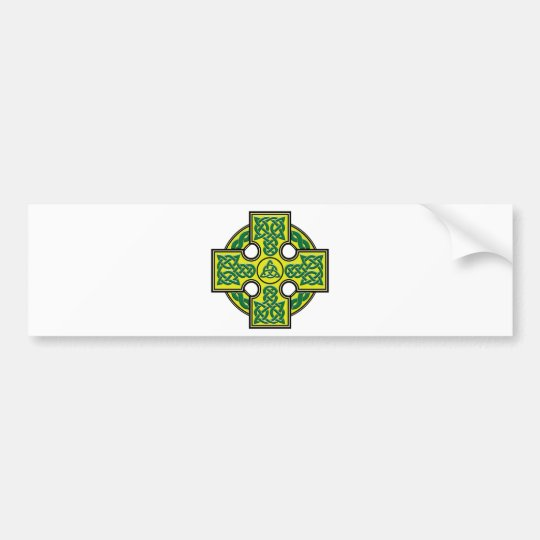 celtic cross bumper sticker