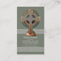 Celtic Cross Business Cards
