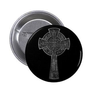 Celtic Cross 2 Inch Round Button