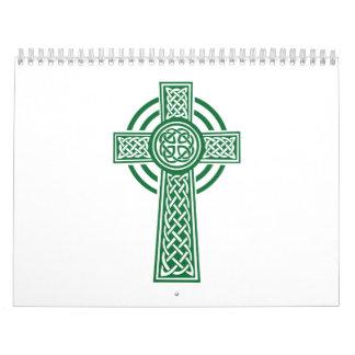 Celtic cross wall calendar