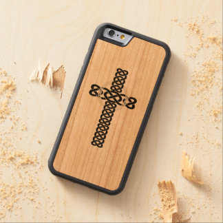 Celtic Cross Carved Cherry iPhone 6 Bumper Case