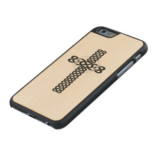 Celtic Cross Carved Maple iPhone 6 Case