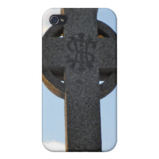 Celtic Cross Cemetery Monument IHS iPhone 4 Cover