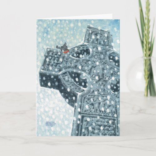 Celtic Cross Christmas Card