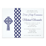 Celtic Cross Communion Invitation for Boys