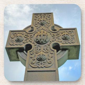 Celtic Cross Cork Coaster