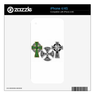 Celtic Cross Design Tie or, iPhone Cover, Gift Skin For iPhone 4
