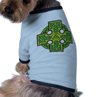 celtic cross pet tee