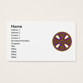 Celtic Cross Double Weave Purple Business Card