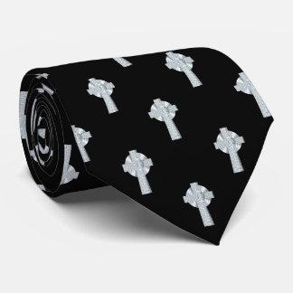 Celtic Cross Faux Silver Tie